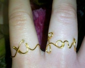Xi Love wire rings