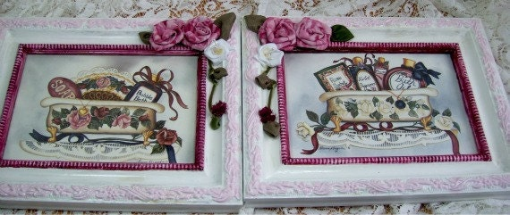Victorian Inspired Bathroom Wall Hangings - Pictures - HM roses - Pinks and Burgundys