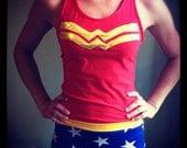 Wonder Woman inspired tank top
