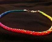 Neon Colors of Joy Kumihimo Necklace
