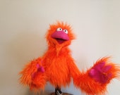A PUPPET A DAY , Orange , Live Hand , Monster puppet ..
