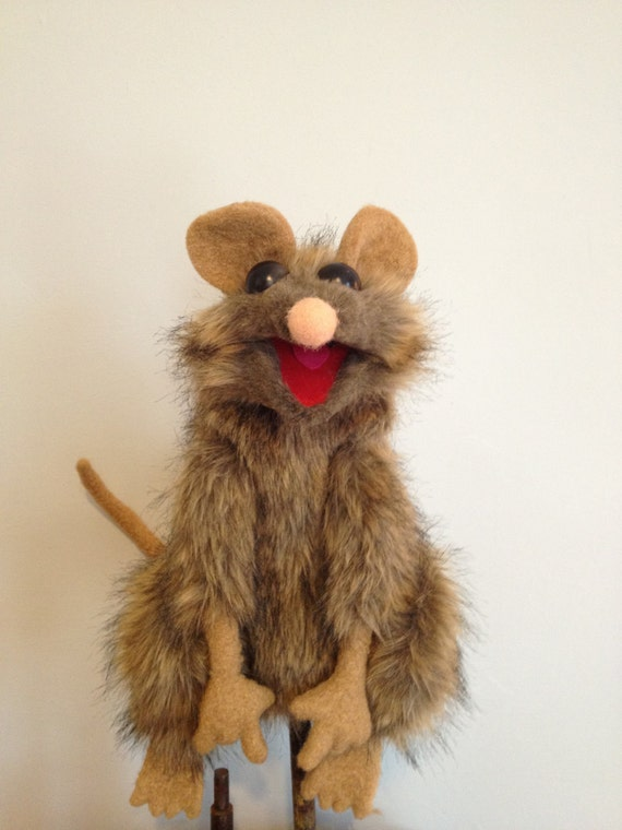 A PUPPET A DAY , Large Rat ,hand puppet ,