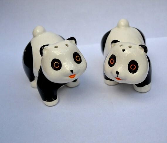 Kawaii panda salt and pepper shakers