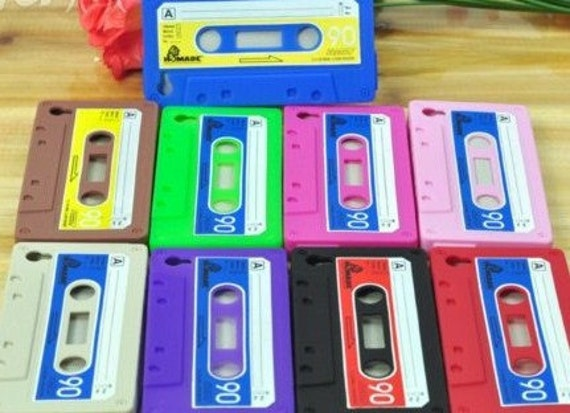 Cassette Tape Cover/Case for I PHONES -BLUE-
