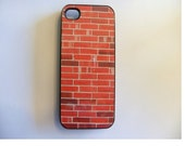 iPhone 4 Case - Red Brick New Plastic Fitted Case For iPhone 4 & iPhone 4S