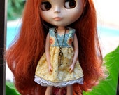 Yellow outfit for blythe or pullip doll