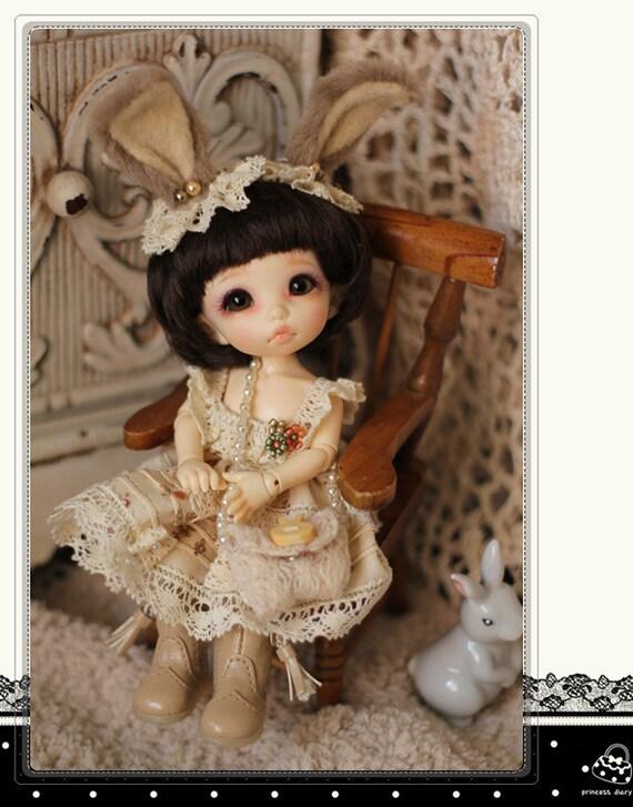 Bunny Dress Set(4items) for Pukifee or Lati Yellow