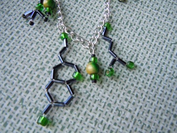 Biolojewelry - Neurotransmitter Charm Bracelet