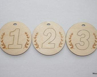 Wooden Medals Set of 3 PCS