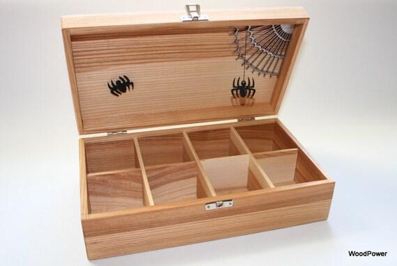 Scary Surprise Wooden Tea Box / Halloween Gift