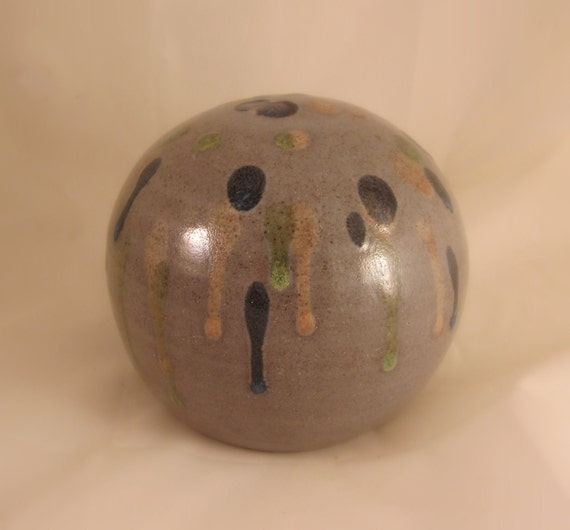 Pottery Cremation Urn - Wheel Thrown Clay - Funerary Cremains Jar For Family Member or Pet Ashes - Petite X Small