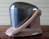 Industrial Chrome Cast Iron Juicer Cottage Shabby Kitchen Decor/Rival Tilt Top Juice O Mat