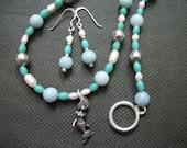 Mermaid sea theme necklace se