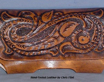 Hand Tooled Leather Smart Phone Case - L021