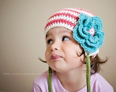 Earflap Candy Newborn - 5T - Ready to Ship - Ships Everywhere