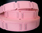 Bubblegum Pink Carnival Tickets - 2 Dozen - 24 Blank Tickets - Valentine's Day - DIY Tags - Cupcake Toppers