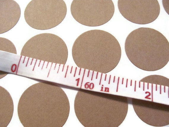 """24 Kraft Brown 3/4"""" Circle Labels / Stickers / Seals - Small - Blank - 3/4 inch Size"""