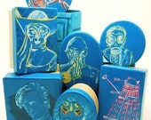 Doctor Who hand painted paper mache box with your choice of image
