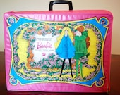 The World of Barbie Double Doll Case by Mattel 1968 Pink