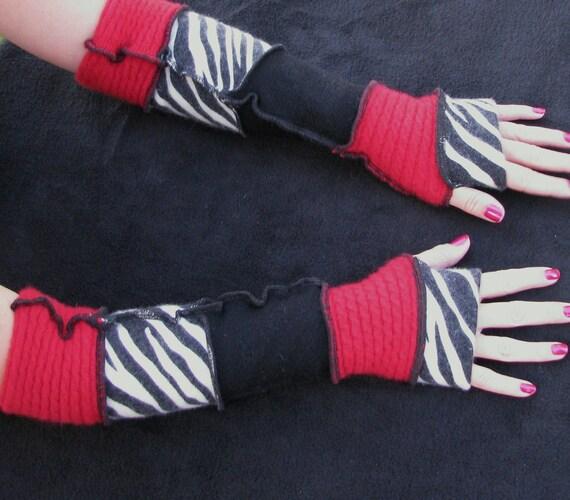 Arm Warmers Red Zebra