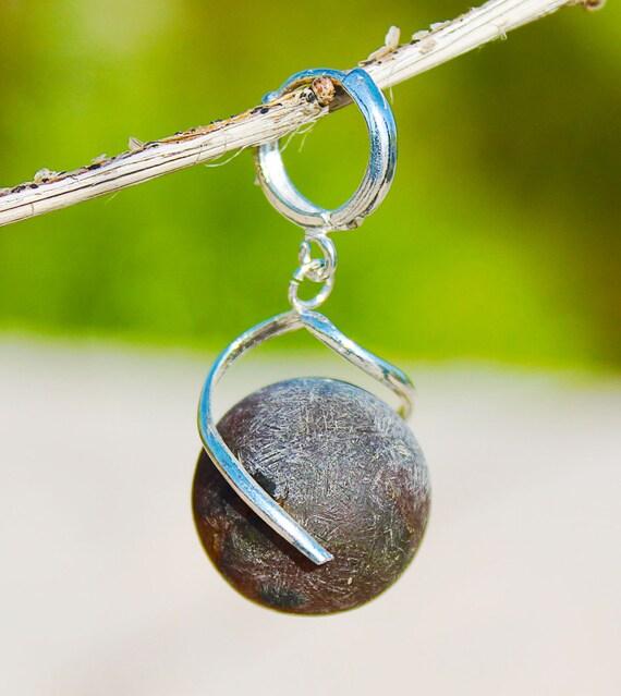 Black Baltic Amber earrings