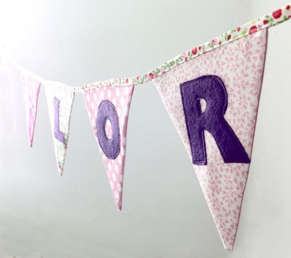 Personalised bunting for Anna. (Vanessa)