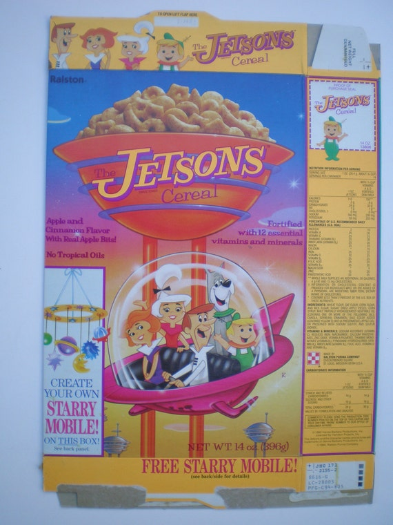 1990 Jetsons Cereal Box Starry Mobile Rare