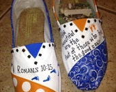 Houston Baptist University hand paitned TOMS