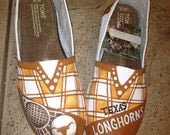University of Texas hand painted TOMS