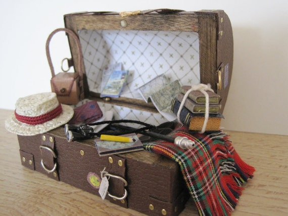 12th Scale (Dollshouse)  Period Cabin Trunk / Steamer Chest