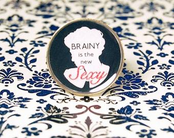 Brainy is the new Sexy - Irene Adler Resin Ring