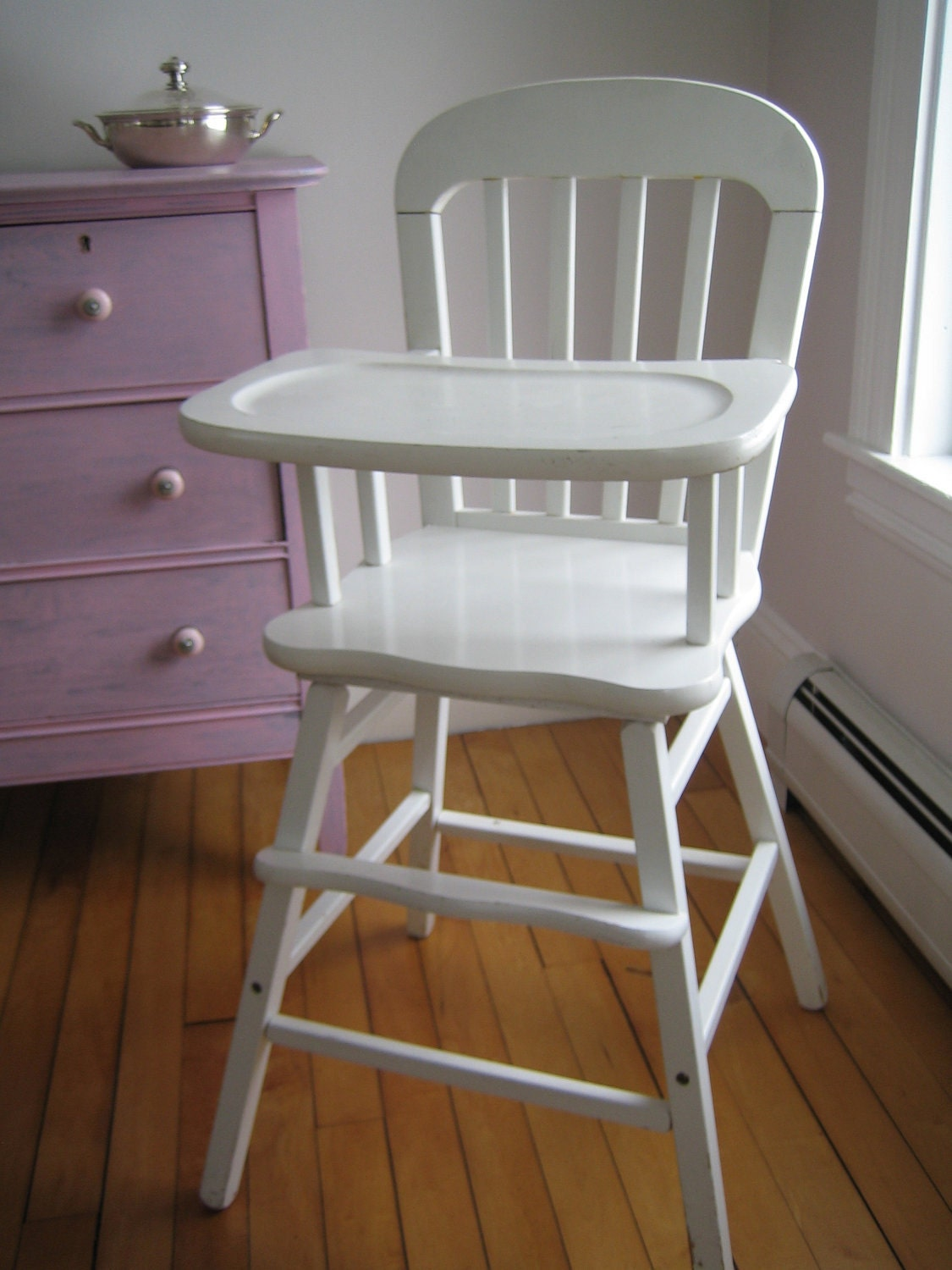 Items similar to Vintage High Chair White on Etsy