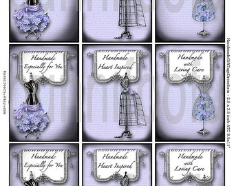 "vintage dressforms tags- ""handmade"" gift tags"