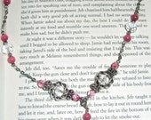 Beautiful Pink and Clear Crystal Long Neckalce