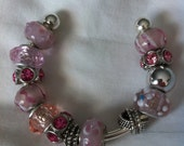 Beaded Charm Bracelet on Bangle