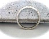 Lovely Vintage 14K White Gold Engraved Band Ring--Wedding Ring or Stack Ring