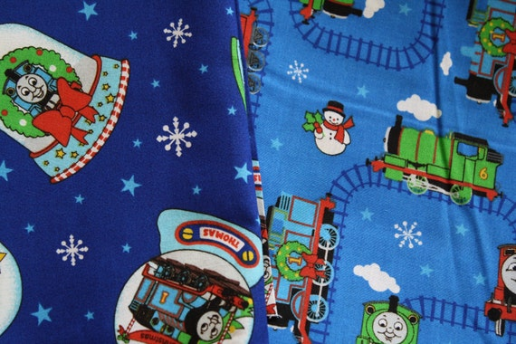 Thomas the Train Christmas Fabric