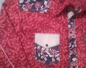 Renegade Cross Stitches Western Shirt (Red & Black Floral)