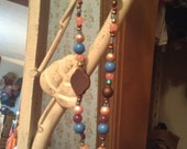 Coral & Blue Necklace...Kowgirl Charm...Show Your Sass.