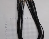 """10 Braided cords for necklaces 18"""""""