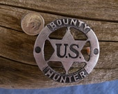 U. S. Bounty Hunter Badge with pin back