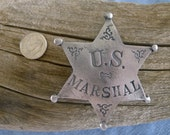 U. S. Marshall 6 Point Star with pin back
