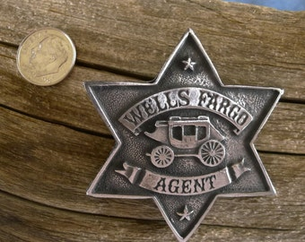 Wells Fargo Badge with pin back