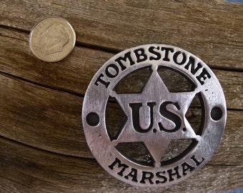 Tombstone U S Marshall Badge with pin back