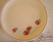 Vintage Shortcake Dessert Plates Strawberry Plates Cavitt Shaw Set of 4