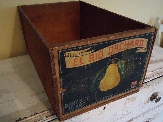 Reserved for Linda:  Vintage Wooden Fruit Crate