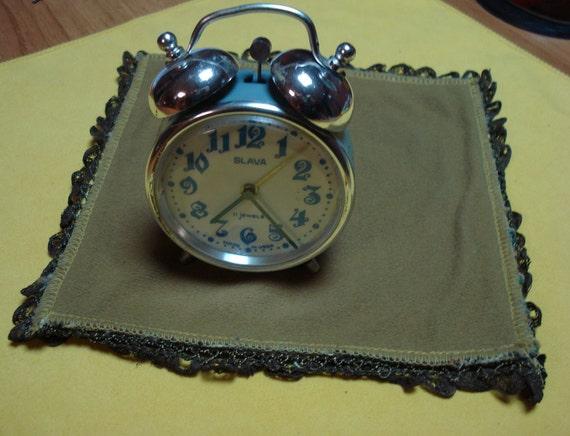 "Mint Ussr ""Slava"" alarm clock cir. 1960-70 perfect condition."