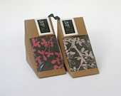 Set of 2 Natural Tea Towels - pink flower blossom