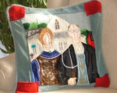 American Gothic Hand Felted Pillow