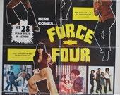 "Vintage ""Force Four"" Blaxploitation Movie Poster"
